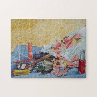 still life make up bag realist art jigsaw puzzle