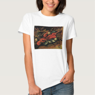 Still Life Mussels and Shrimp by Vincent van Gogh T Shirts