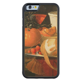 Still life of an orange carved® maple iPhone 6 bumper