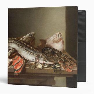 Still Life of Fish on a Table Vinyl Binders