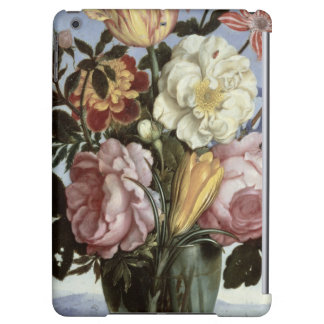 Still life of flowers in a drinking glass cover for iPad air