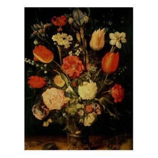 Still Life of Flowers Postcard