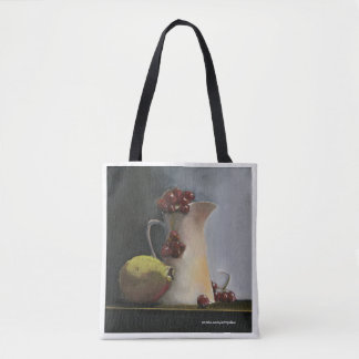 Still Life of Fruit and Jar: Tote Bag