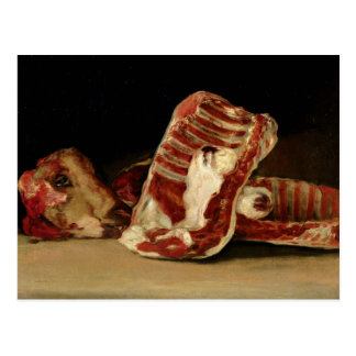 Still life of Sheep's Ribs and Head Postcard