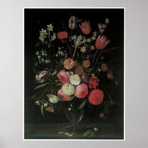 Still Life of Summer Flowers, 1652 Print