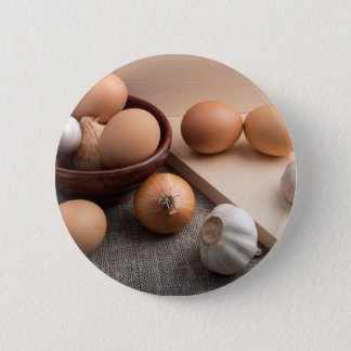 Still-life on the gray sacking 2 inch round button