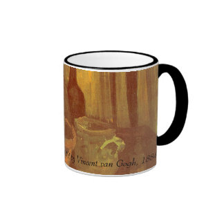Still Life Paintbrushes in a Pot Vincent van Gogh Ringer Coffee Mug