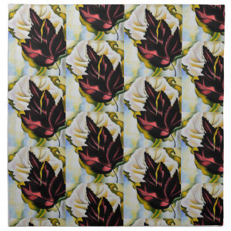 Still Life Pattern of Leaves Georgia O'Keefe Napkin