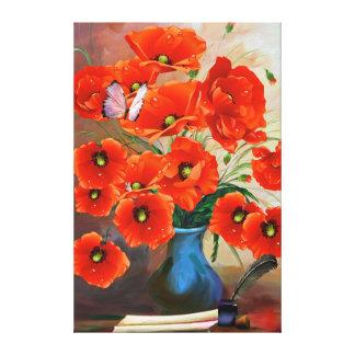 Still Life Poppies Canvas Print