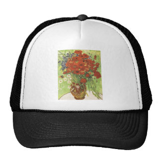 Still life - Red poppies and daises Hat