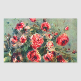 Still life roses of Vargemont by Claude Monet Sticker