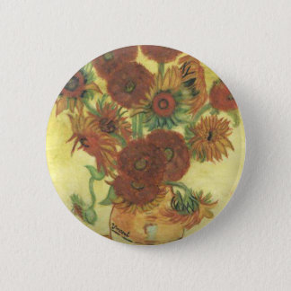 Still Life: Sunflowers 2 Inch Round Button