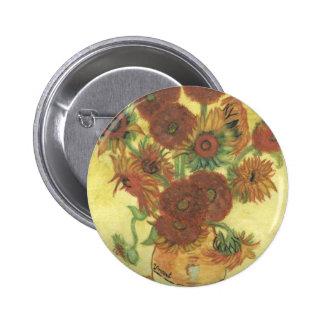 Still Life: Sunflowers 2 Inch Round Button