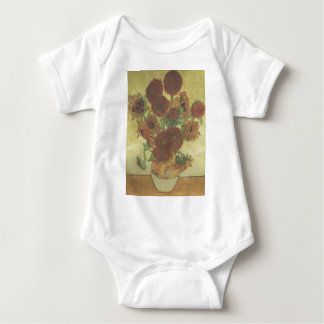 Still Life: Sunflowers Baby Bodysuit
