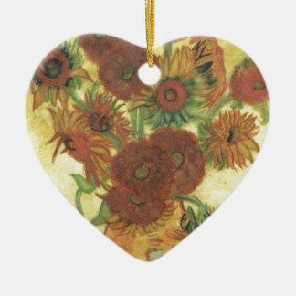 Still Life: Sunflowers Ceramic Ornament