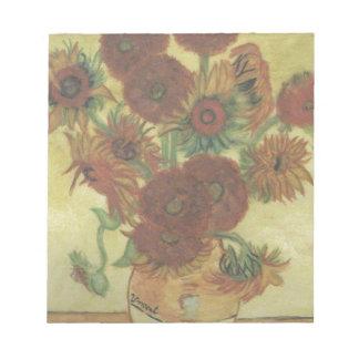 Still Life: Sunflowers Notepad