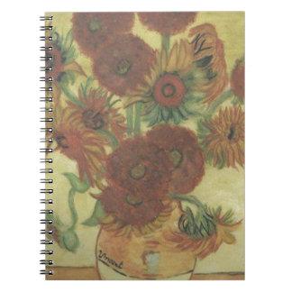 Still Life: Sunflowers Spiral Notebook