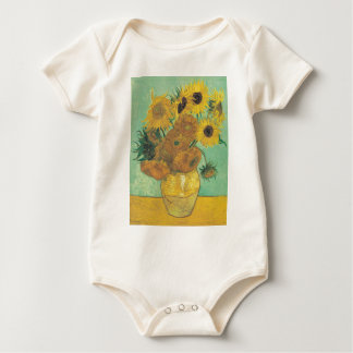 Still Life: Sunflowers - Vincent van Gogh Baby Bodysuit