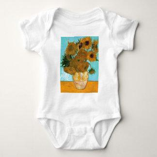 Still Life: Sunflowers - Vincent van Gogh Baby Bodysuit
