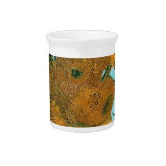 Still Life: Sunflowers - Vincent van Gogh Drink Pitcher