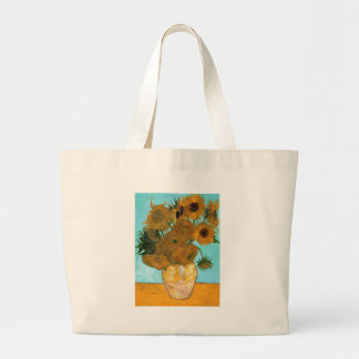 Still Life: Sunflowers - Vincent van Gogh Large Tote Bag