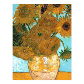 Still Life: Sunflowers - Vincent van Gogh Letterhead