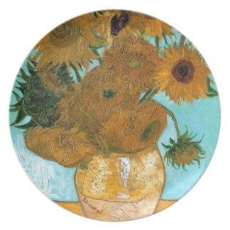 Still Life: Sunflowers - Vincent van Gogh Plate