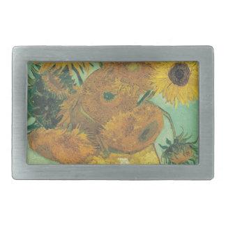 Still Life: Sunflowers - Vincent van Gogh Rectangular Belt Buckles