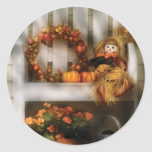 Still Life - Symbols of Autumn Round Stickers