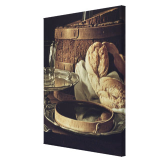 Still Life. The Snack Stretched Canvas Print