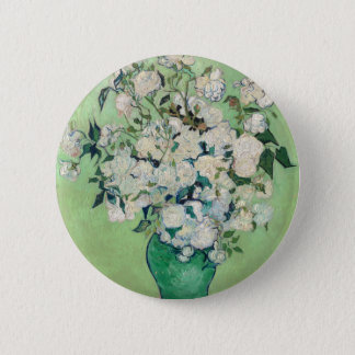 Still Life: Vase with Roses - Vincent Van Gogh 2 Inch Round Button