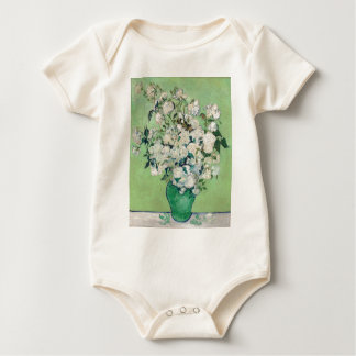Still Life: Vase with Roses - Vincent Van Gogh Baby Bodysuit