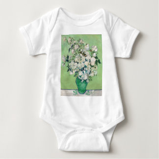 Still Life: Vase with Roses - Vincent Van Gogh Baby Bodysuit