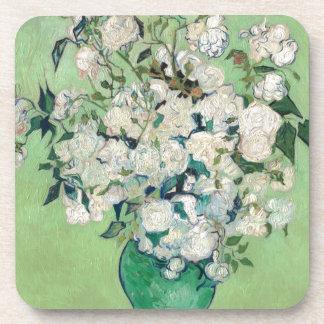 Still Life: Vase with Roses - Vincent Van Gogh Beverage Coaster