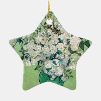 Still Life: Vase with Roses - Vincent Van Gogh Ceramic Star Ornament