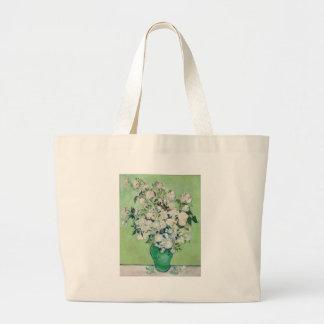 Still Life: Vase with Roses - Vincent Van Gogh Large Tote Bag