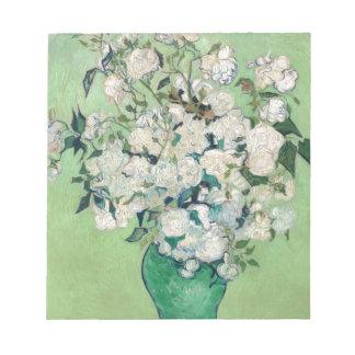 Still Life: Vase with Roses - Vincent Van Gogh Notepad