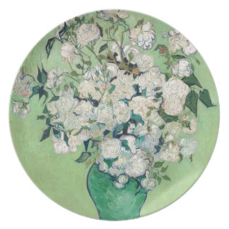 Still Life: Vase with Roses - Vincent Van Gogh Plate