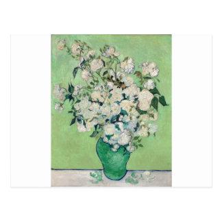 Still Life: Vase with Roses - Vincent Van Gogh Postcard
