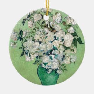 Still Life: Vase with Roses - Vincent Van Gogh Round Ceramic Ornament