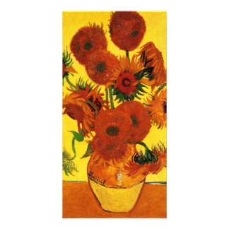 Still Life Vase with Sunflowers by van Gogh Customized Photo Card