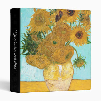 Still Life - Vase with Twelve Sunflowers van Gogh 3 Ring Binder