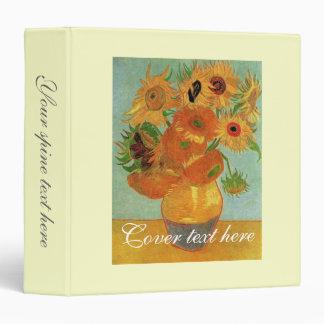 still life - vase with twelve sunflowers, van Gogh Vinyl Binder