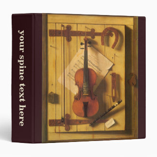 Still Life Violin and Music by William Harnett Binder