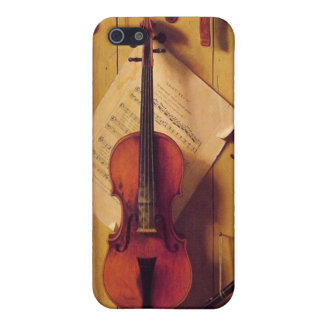 Still life violin and music cover for iPhone 5/5S