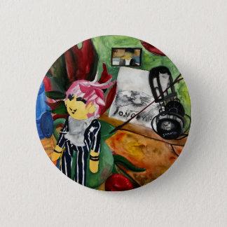 Still Life Watercolor 2016 2 Inch Round Button