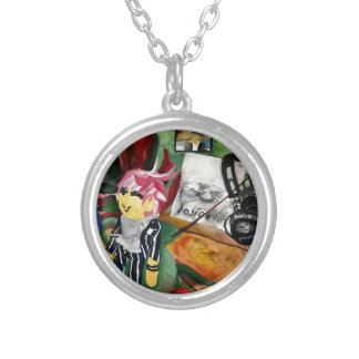 Still Life Watercolor 2016 Silver Plated Necklace