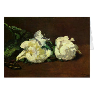 Still life, White Peony by Edouard Manet Card