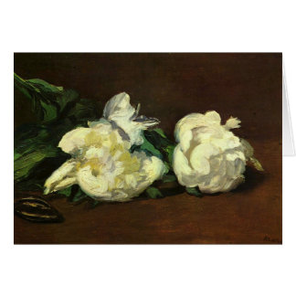 Still life, White Peony by Manet Card