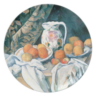 Still Life with a Curtain by Cezanne Plate